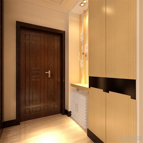 玄关处有储物柜合理利用了玄关增加了储物空间