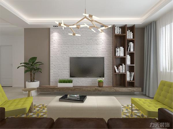 房间主题色虽为以奶咖为主色。奶咖属于暖色调,暖色调增加温馨感。本户型面积较小,因此在家具造型和颜色上的选择都以简单明了的线条和黑白色块来组合。从视觉上增加空间感。