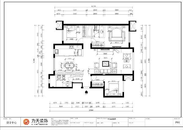 该户型是莱茵翠景3室2厅2卫146㎡。