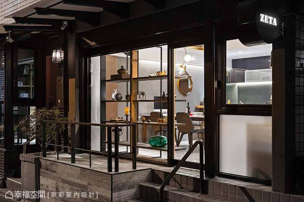 以大面玻璃、表示层架设计门面,令人有置身精品店的错觉。