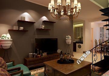 格林木棉花70平复式美式风格