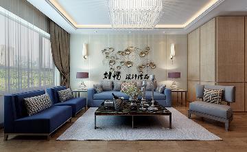 中海康城125平港式风格效果图