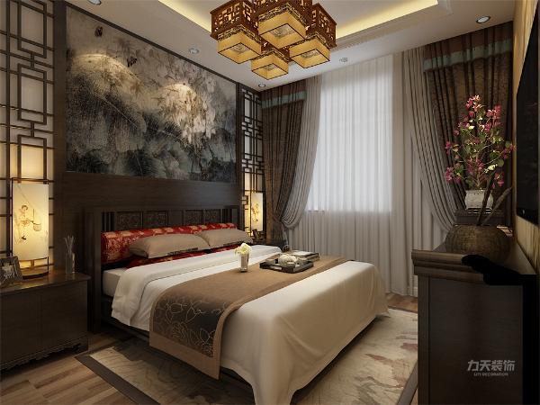 卧室中国风十足,是户主居住感到舒适,愉悦。