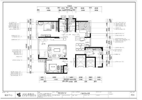 """此户型是  天津诺德名苑157㎡户型分析标准户型,本户型功能分区大体合理,整体采光较好,空间的功能性很强,根据房间的合理布局以及面积,本案设计为""""欧式风格""""欧式的特色是将设计风格体现的是素雅的气质。"""