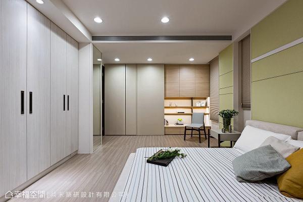 特别选用清新的苹果绿铺陈壁面,带出活泼可爱的场域气息。