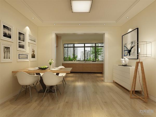 客餐厅单色乳胶漆的墙面配上简洁的搭配使整个简单却又不单调。