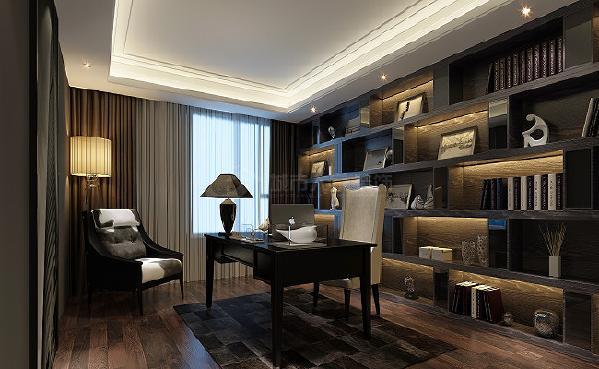 简约 大户型 西安装修 现代 设计师 书房图片来自西安城市人家装饰王图片