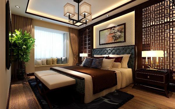 在材质上,运用壁纸、玻化砖等,将传统风韵与现代舒适感完美地融合在一起