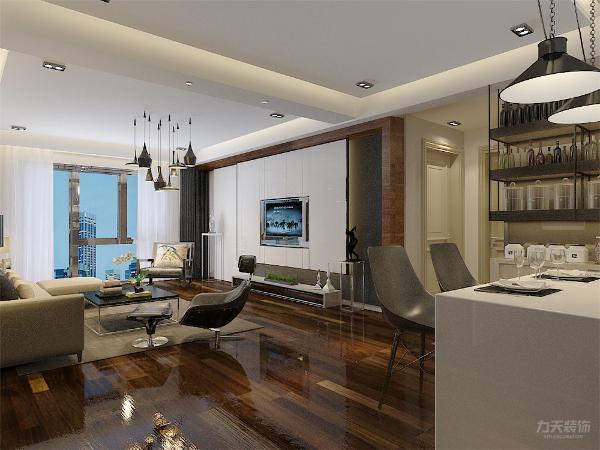 通过反射结构装饰线来拓宽视觉感及表现光与影的和谐。使整体室内呈现出一种现代,却不失内涵的空间。适合上班族在工作之余有一个让自己放松的私人空间。