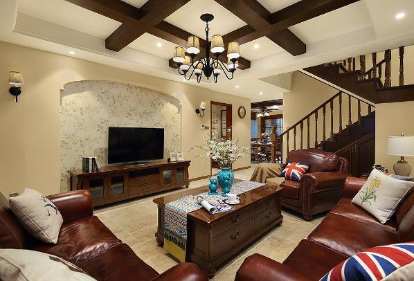 客厅环境中力求表现悠闲、舒畅、自然的生活情趣,也常运用天然木、石、藤、竹等材质质朴的纹理。巧于设置室内绿化,创造自然、简朴、高雅的氛围。