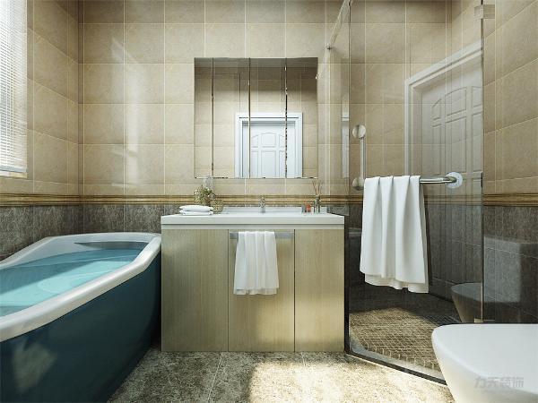 卫生间布局合理有浴缸的设置
