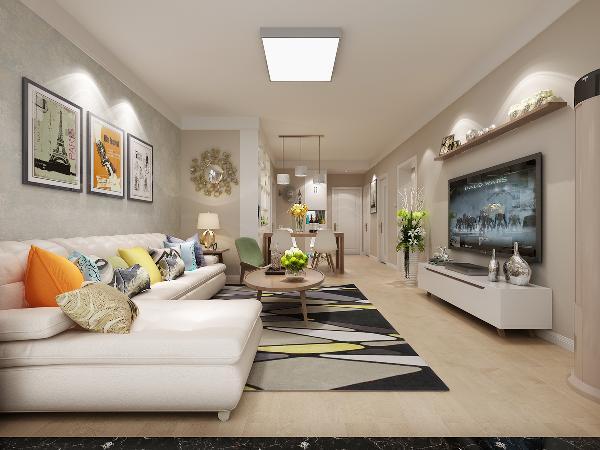 本案之中,整体设计以简约为主搭配木色,倡导轻松舒适的生活态度,轻装修,重装饰