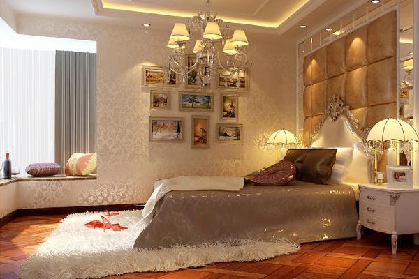 次卧设计简约而不简单,奶油白与白色相间的空间里,加入精致耀眼的银白色,使空间变得时尚而优雅。