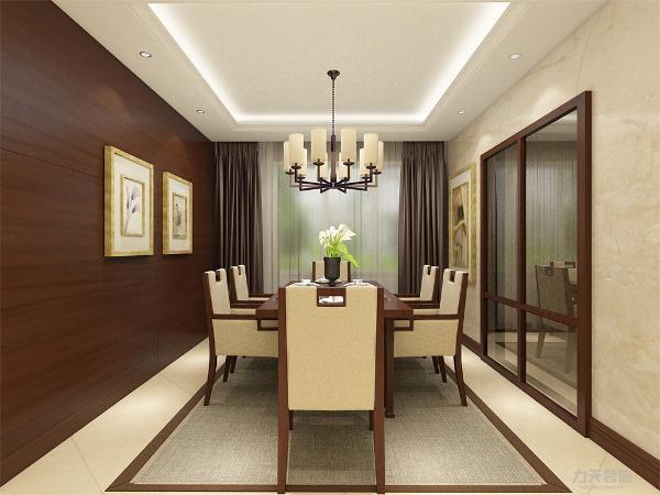 设计讲究线条简单流畅、融合着精雕细琢的意识。中式家具更具有实用性。为了给客厅增加暖意,饰以精巧的灯具和雅致的挂画,使整个居室有浓浓的古韵。
