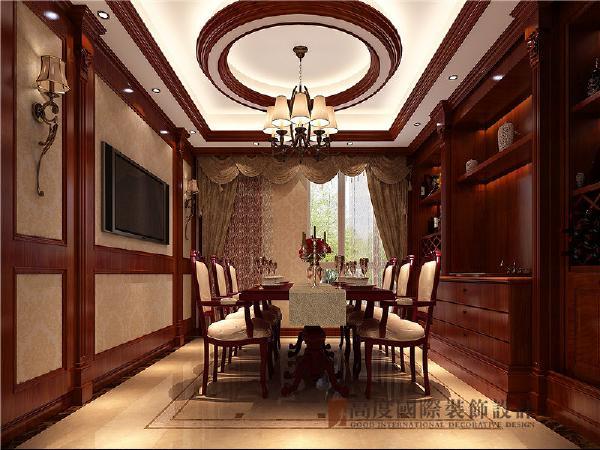 餐厅设计是经过空间改造,两厢融汇贯通的,线条圆润优美、结构简洁大方。