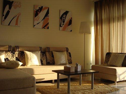 阳光与自然的通透度,将大气与奢华尽情的展现,客厅的空间度跃然的展现在视觉中。