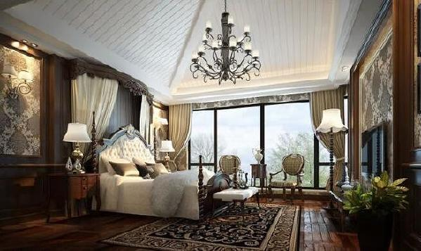 空间任意设计的发挥,良好的采光度将视野不断的拓展至家居客的眼前。感悟到不仅仅是美式的大气与奢华,更重要的是感悟到卧室的那份惬意与自在。