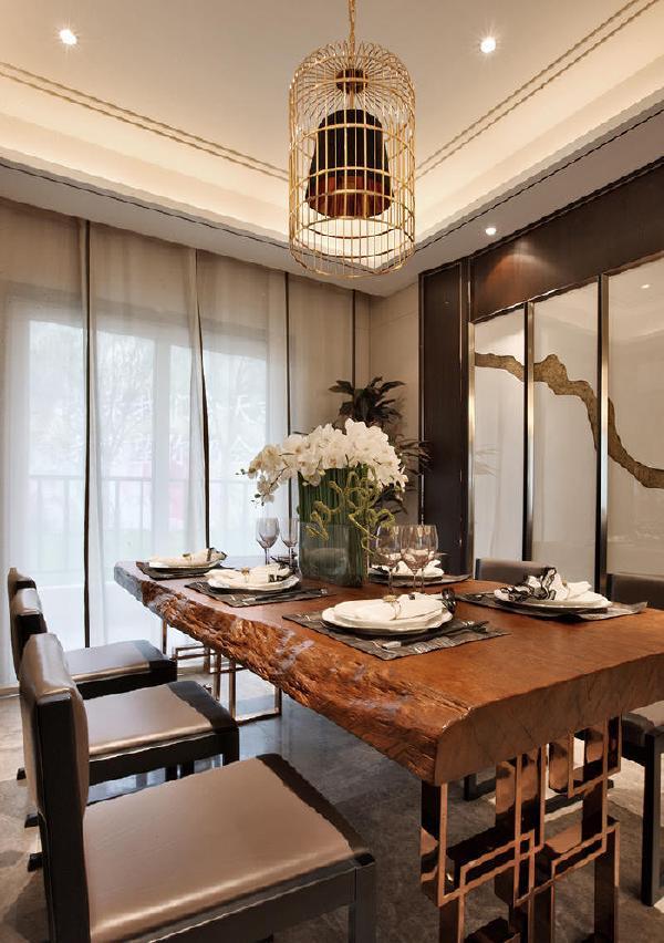 阳光城地产中式风格餐厅装修