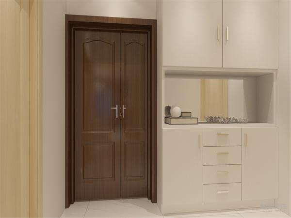 玄关处有储物柜的设置节省了储物空间合理利用了玄关的空间