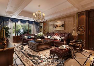 格林玫瑰湾170平美式风格
