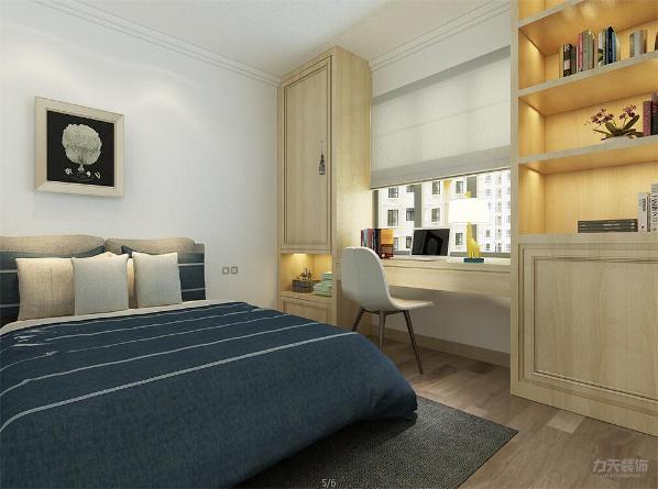 次卧室设有衣柜和书柜电脑桌方便使用,整体空间分布合理,给人轻松舒适的生活体验。