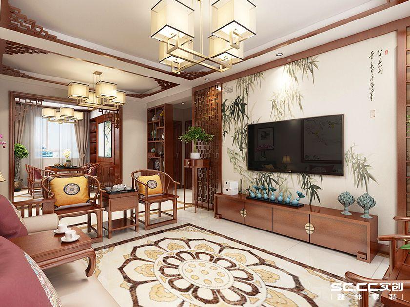 二居 实创 中式 白领 客厅图片来自快乐彩在二居室中式保利茉莉公馆112平的分享