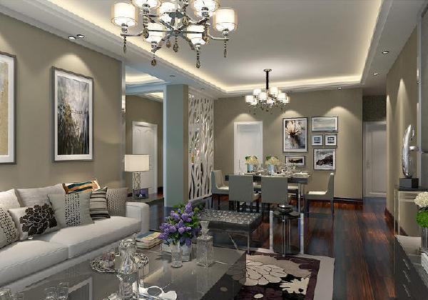 俊发城现代简约风格装修客厅