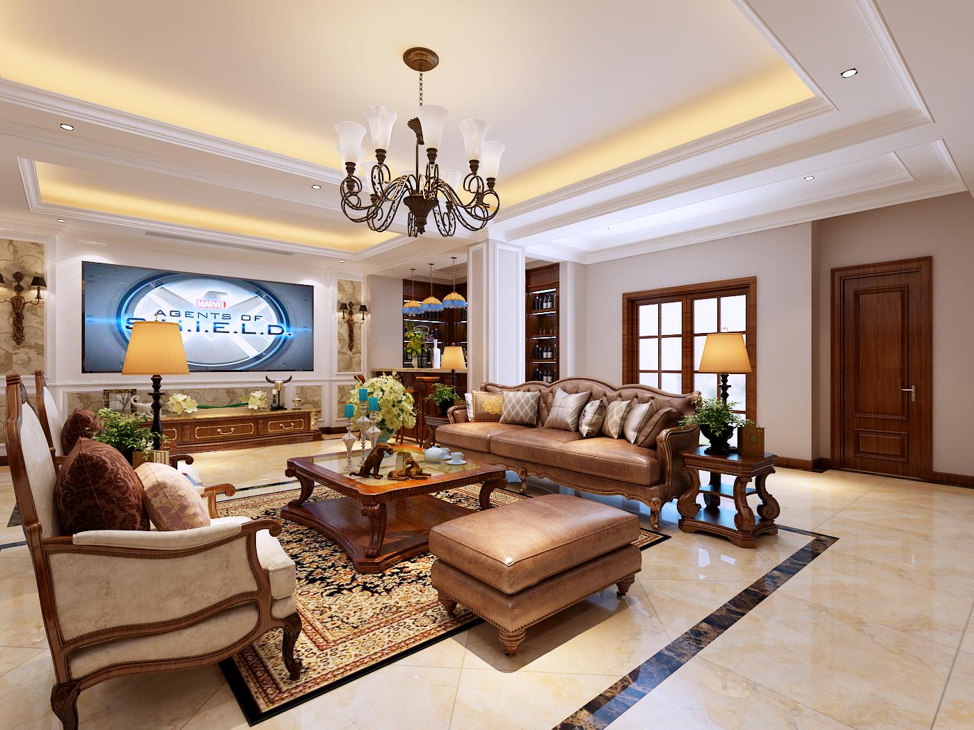欧式 别墅图片来自设计师张斌在欧式风格的分享