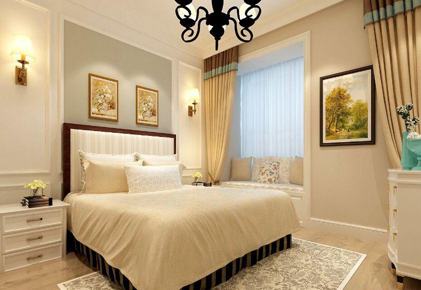简约 欧式 三居 收纳 80后 小资 卧室图片来自实创装饰百灵在金科廊桥水岸四居140㎡装修案例的分享