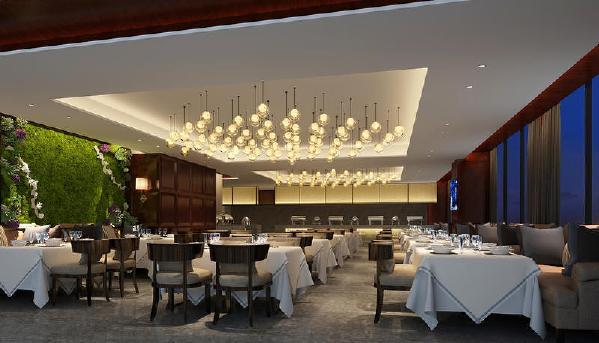 毕节国贸现代简约风格装修餐厅