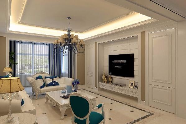此设计为一家三口设计的,因业主喜欧式家具,所以风格定为简欧风格。生活在繁杂多变的世界里已是烦扰不休,而简单、自然的生活空间却能让人身心舒畅,感到宁静和安逸