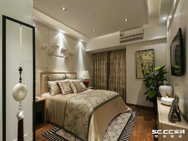 郑州实创装饰—雅居乐国际花园138平装修效果图—卧室设计