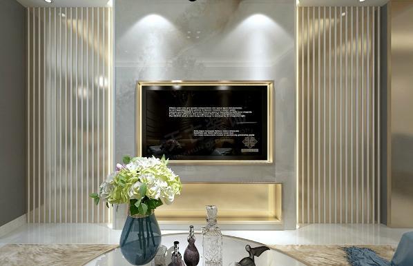 多以金属色和线条感营造金碧辉煌的豪华感,简洁而不失时尚。灯具提供柔和、偏暖色的灯光,让整体素雅的居室不会有太多的冰冷感觉。布置简洁,客厅的以蓝色为主调,展现一个休闲的氛围。