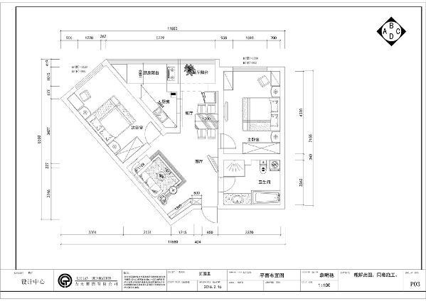 本案汇园里两室两厅一厨一卫的户型,从空间上看,整个空间的面积比小,空间为异形,最大的问题为,如何扬长避短的充分利用空间,制作出有特点的设计,布局上看,整体的布局非常合理,空间得到充分利用