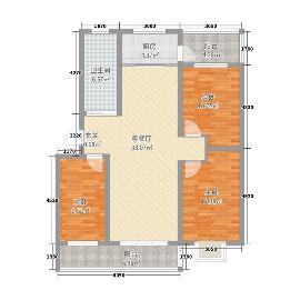 现代简约  90平米 3室1厅