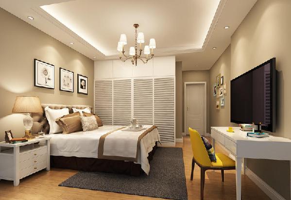 花果园91平现代美式风格装修卧室