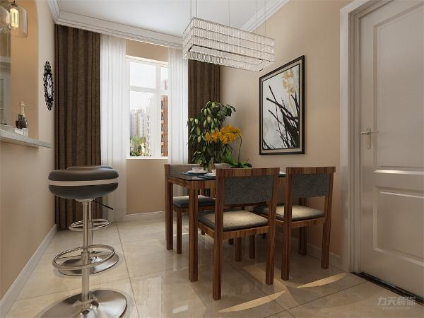 餐厅处放一个吧台,即合理利用空间,也增加气氛