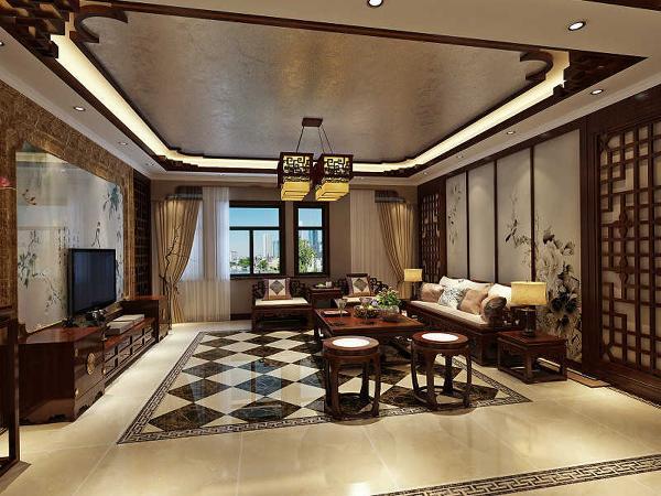 以传统文化内涵设计元素,革除传统家具的弊端,去掉多余的雕刻,融合现代西式家居的舒适,根据不同户型的居室,采取不同的布置。