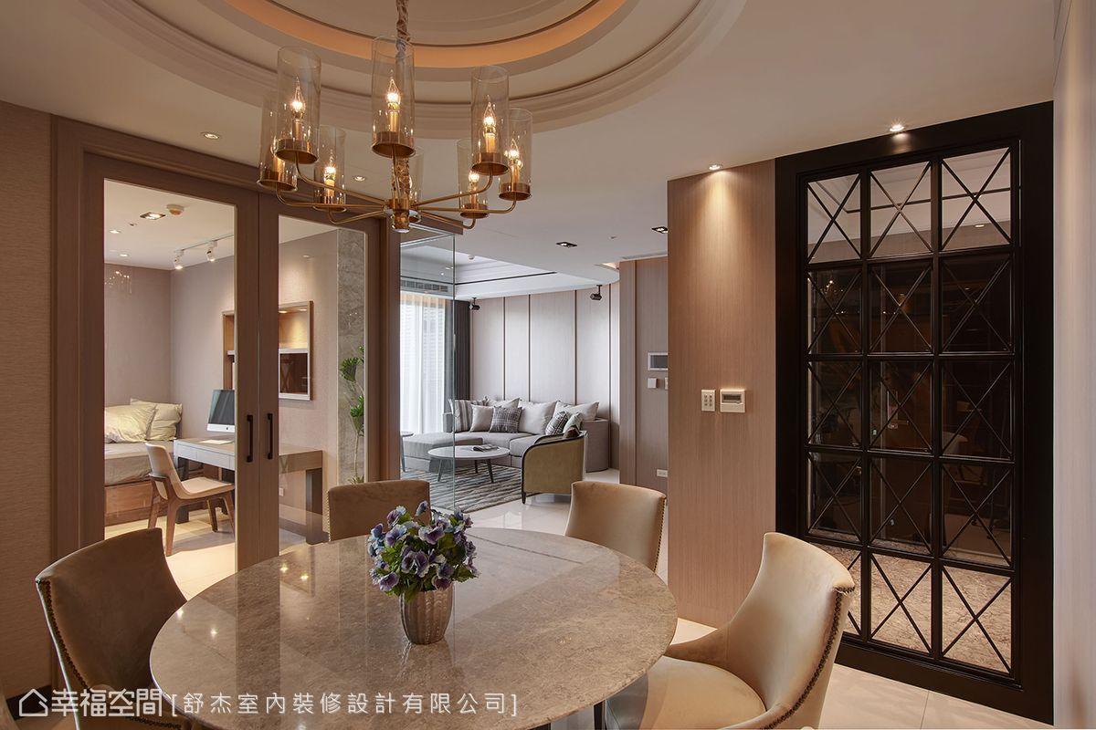 四房 简约 现代 收纳 旧房改造 餐厅图片来自幸福空间在风風尚雅逸的分享