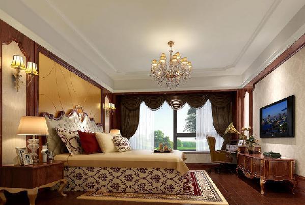 保利溪湖混搭欧式风格装修卧室