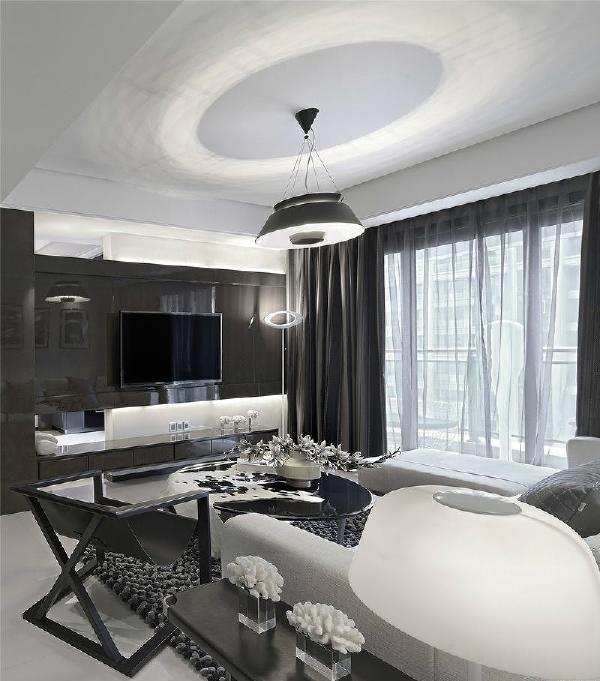 中海国际社区现代简约风格装修客厅