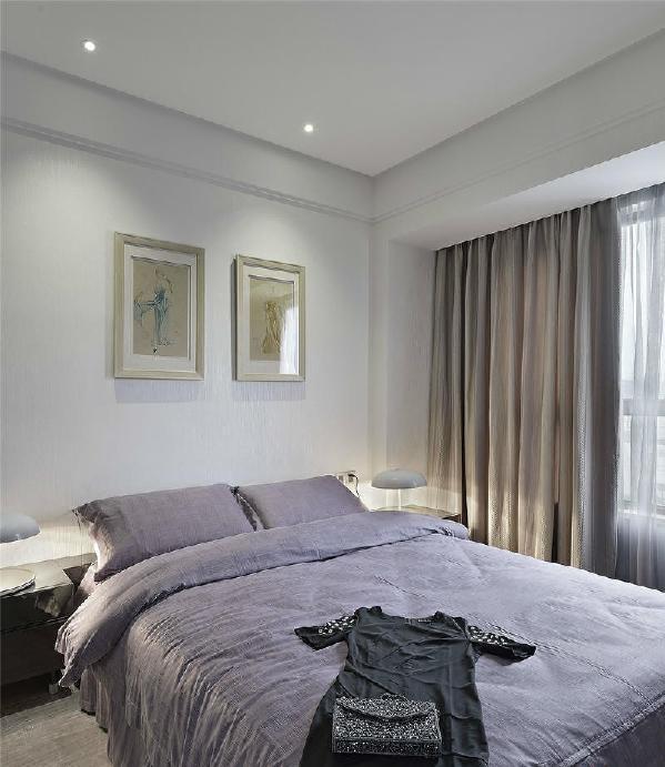 中海国际社区现代简约风格装修卧室