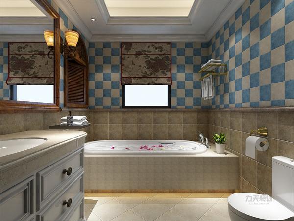 卫生间地面用了防滑砖铺贴,卫生间里放置了坐便,洗手台。