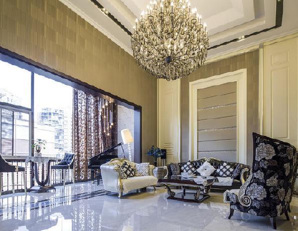 景新花园紫竹院新古典风格装修客厅