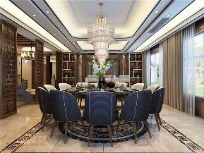 龙发装饰 别墅 中式 新中式 鸿雁岛 餐厅图片来自龙发装饰天津公司在鸿雁岛800平米新中式风格的分享