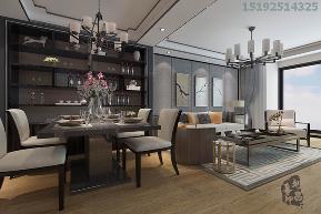 二居 新中式 实创 中城嘉汇 白领 餐厅图片来自实创装饰小彩在中城嘉汇新中式两居室93平装修的分享