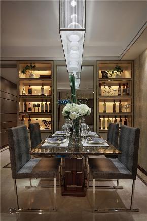 龙发装饰 海河大观 三居 现代 简约 餐厅图片来自龙发装饰天津公司在海河大观130平米现代风格的分享