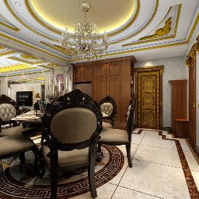 龙发装饰 和平园 欧式 平层 两居 二居 餐厅图片来自龙发装饰天津公司在和平园180平米欧式风格的分享