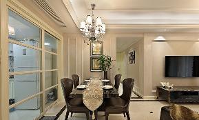 餐厅图片来自家装大管家在黑金时代 109平现代简约舒适3居的分享