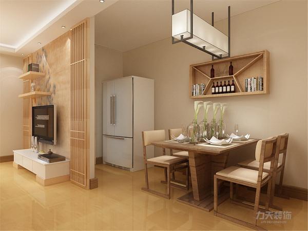 餐厅整体设计的较为简洁,符合日系风格,整体追求的是清淡,雅致的感觉,在灯具的选择上也是较为有意境的。